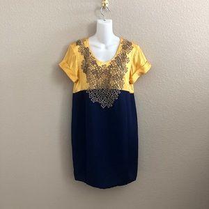 3.1 Philip Lim Floral Appliqué Mini Shift Dress
